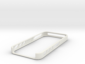 iphone 5 basic bumper in White Premium Versatile Plastic