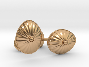Shell Cufflinks in Polished Bronze
