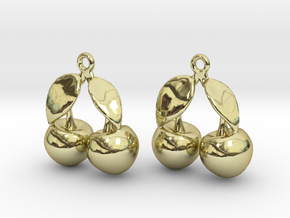 The Cherry Earrings in 18k Gold Plated Brass