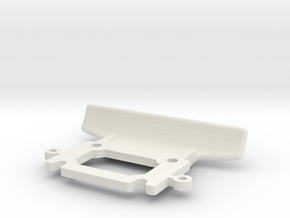 losi mini front bumper jrx2 in White Natural Versatile Plastic