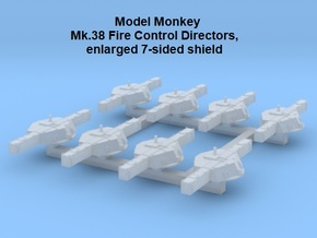 1/700 Mk.38 Directors, enlarged 7-sided shield in Smoothest Fine Detail Plastic