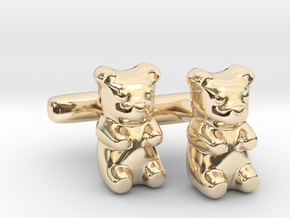 Gummy Bear Cufflinks in 14K Yellow Gold