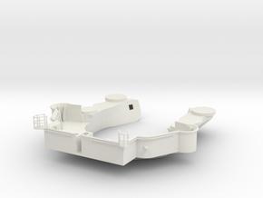 1/96 Yamatosuperstructures part9 (Signal Deck) in White Natural Versatile Plastic