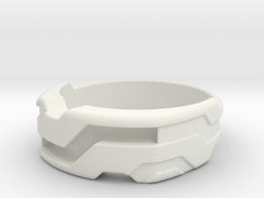 US14 Ring XXI: Tritium (Silver) in White Premium Versatile Plastic
