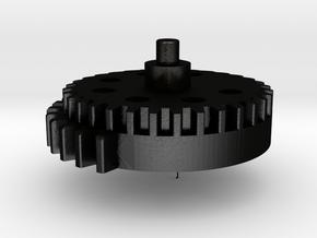 Sector Gear in Matte Black Steel