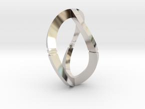 Modern Art D3 / 3-Sided Die in Platinum