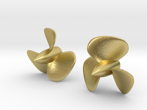 1/200 HMS Hood Brass Propellers x2 (Port&Star) in Natural Brass