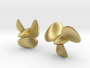 1/144 HMS Hood Brass Propellers x2 (Port&Star) in Natural Brass