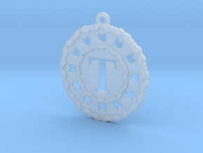 Magic Letter T Pendant in Smooth Fine Detail Plastic