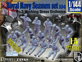 1/144 Royal Navy Seamen Set 104 in Smooth Fine Detail Plastic