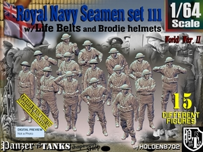 1/64 Royal Navy Seamen Set111 in Smooth Fine Detail Plastic
