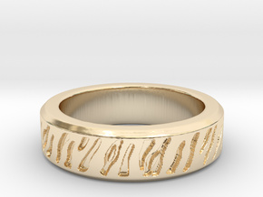 Tiger stripe ring multiple sizes in 14K Yellow Gold: 5 / 49