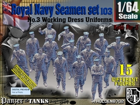 1/64 Royal Navy Seamen Set103 in Smooth Fine Detail Plastic