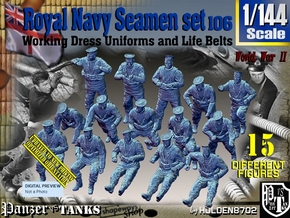 1/144 Royal Navy Seamen Set106 in Smooth Fine Detail Plastic