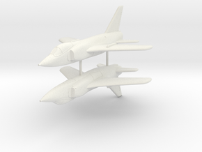 1/200 Grumman F-11 Tiger (x2) in White Natural Versatile Plastic