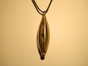 Spinning Pendant in Polished Bronzed Silver Steel