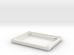 "Matrix Orbital 4.3"" Smooth Bezel Mount (Rev1.0) in White Natural Versatile Plastic"