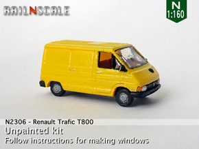 Renault Trafic T800 (N 1:160) in Smooth Fine Detail Plastic