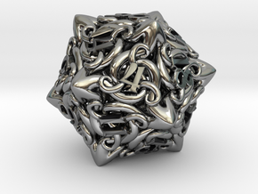 Cthulhu D20  in Antique Silver