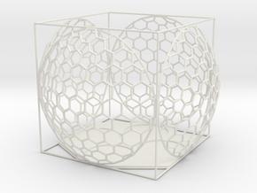 4 Tealights Holder in White Natural Versatile Plastic