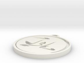 Jest3r Lab Pendant in White Natural Versatile Plastic