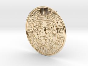 Aztec Earring (single earring) in 14k Gold Plated Brass