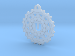 Magic Letter U Pendant in Smooth Fine Detail Plastic