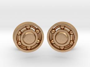 Ball Bearing Cufflinks in Natural Bronze