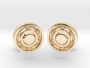 Ball Bearing Cufflinks in 14k Gold Plated Brass