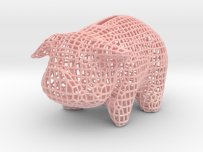 Wire Piggy Bank in Glossy Full Color Sandstone