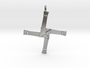 Brigid's cross in Antique Silver