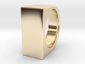 Signe Unique V - US11  - Signet Ring in 14k Gold Plated Brass