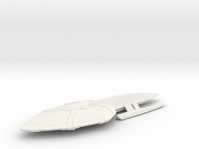 Uss Woodsford in White Natural Versatile Plastic