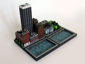 Office tower 3x2 in Natural Full Color Sandstone