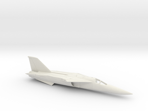 F-111A-144scale-WingsBack-01-Airframe in White Natural Versatile Plastic