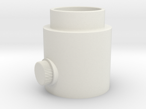 Button Knob in White Natural Versatile Plastic