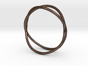 Ring 02 in Polished Bronze Steel