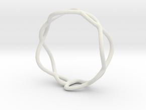 Ring 01 in White Natural Versatile Plastic