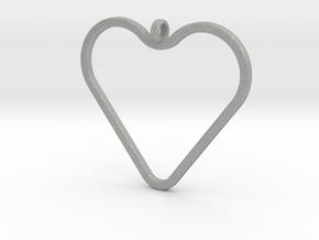 Heart_necklace 1 v1 in Aluminum: Medium