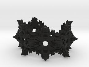 Intestines of Complex Numbers - Bracelet in Black Premium Versatile Plastic