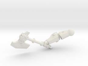 Sons Ravager - Right Arm (Axe) in White Natural Versatile Plastic