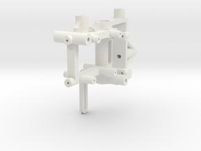 Nano CPX Frame for HP03SPE v2 brushless outrunner in White Natural Versatile Plastic