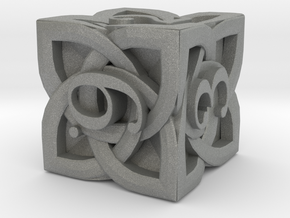 Celtic D6 - Solid Centre for Plastic in Gray PA12