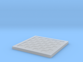 1/18 Scale Chess/Checkers Board (Bare) in Smooth Fine Detail Plastic