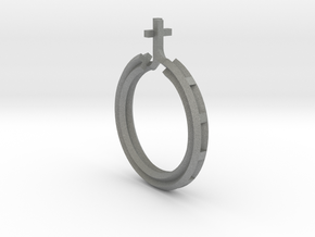 Rosary Ring in Gray PA12