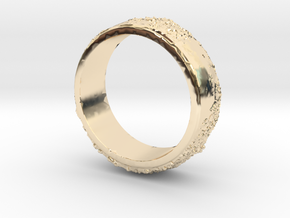 Moon Ring in 14k Gold Plated Brass