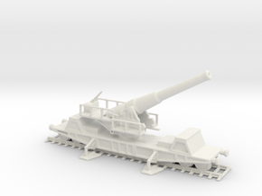 British  bl 9.2 MK 13 1/87 railway artillery ww1  in White Natural Versatile Plastic