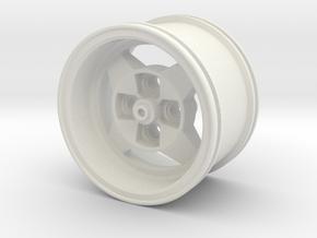 A112 ABARTH WHEEL in White Natural Versatile Plastic