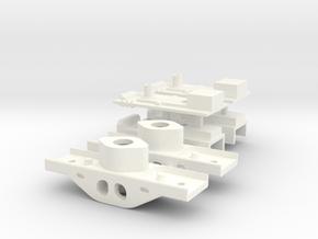 LioGon Kadee Box PAIR mm w-bolsters p48 in White Processed Versatile Plastic