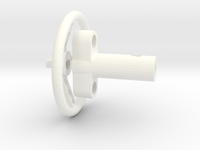 F150 Interior 058023-01 Tamiya F150 Wheel & Column in White Processed Versatile Plastic